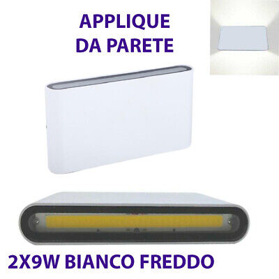 Aplique Pared Doble Bombilla LED Mazorca 9W Foco Exterior Blanco Frío 6000K