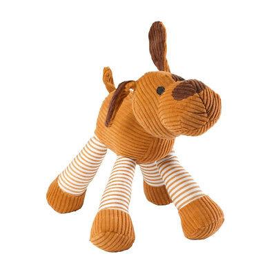 House of Paws Cord Dog Squeaky Dog Toy | Medium Large Plush Soft Farm Animal Pet