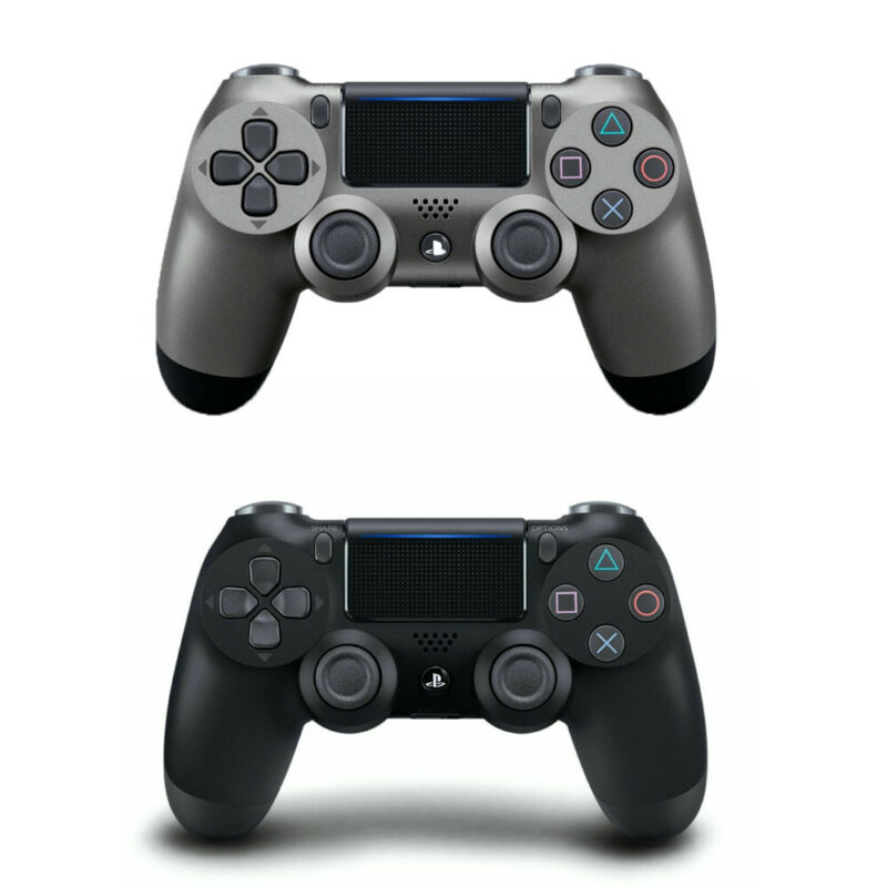 Steel Grey/Jet Black Wireless PS4 Controller For Sony PlayStation 4