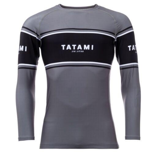 Tatami Fraction Long Sleeve BJJ Rash Guard Adult MMA Compression Grappling Top