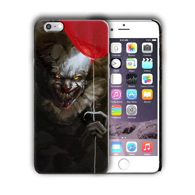 C Clown Halloween (Halloween Pennywise Clown Iphone 4s 5 5s 5c SE 6 6s 7 8 X XS Max XR Plus Case)