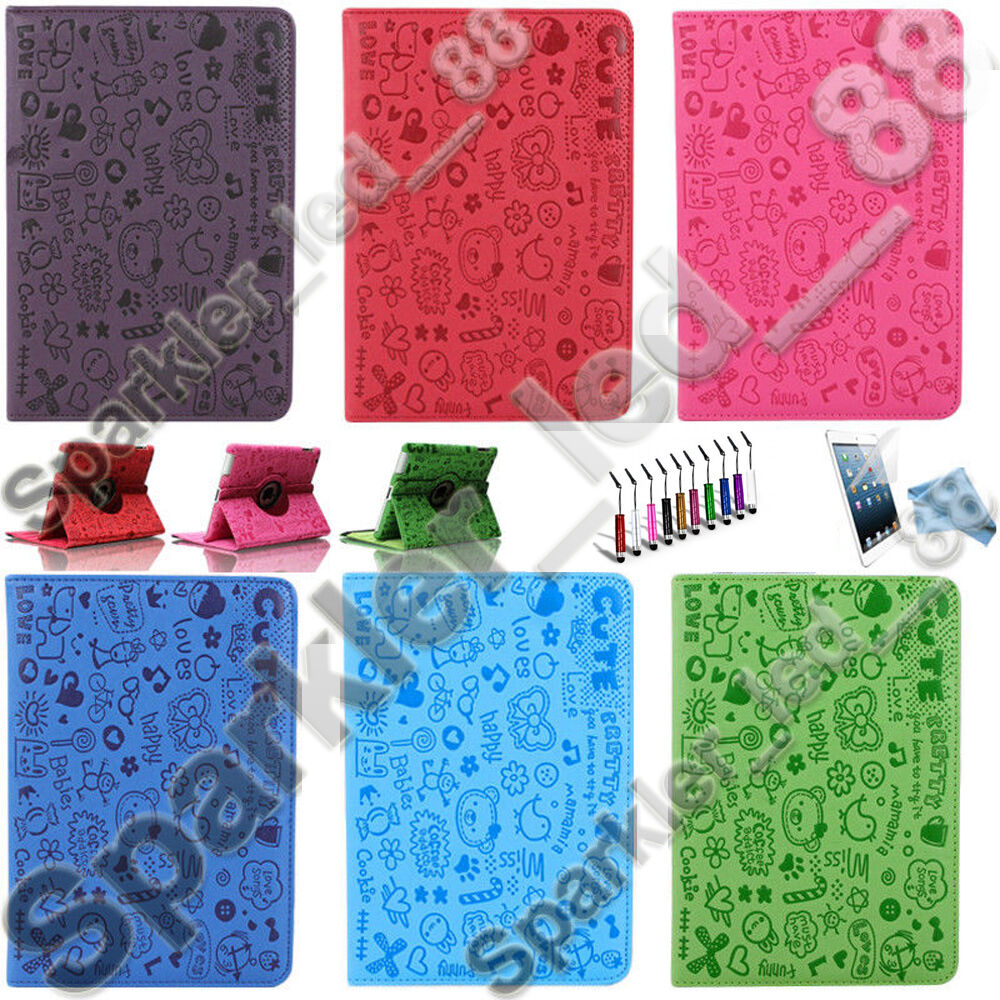 Cute PU Leather Magnetic Smart Cover Stand Case For Apple iP