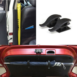 Multi Purpose Car trunk lid umbrella holder hanger DIY Easy Quick installation