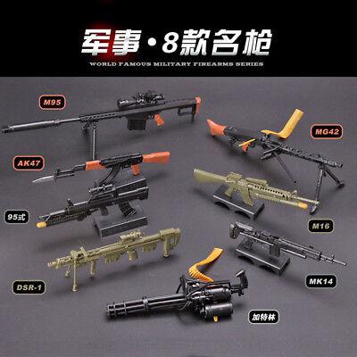1/6 World famous toy gun series Assembling gun model PUBG Weapon Action Figure (Plastic Toy Guns)