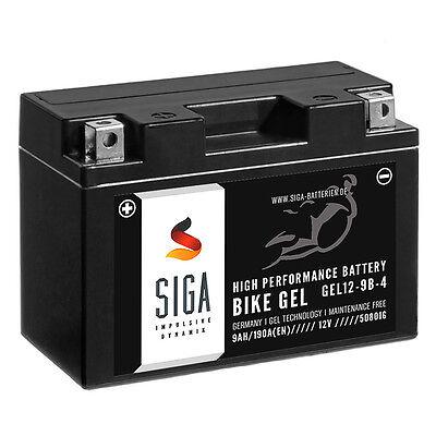 SIGA GEL Roller Batterie 9Ah 12V 190A/EN YT9B-4 Motorradbatterien