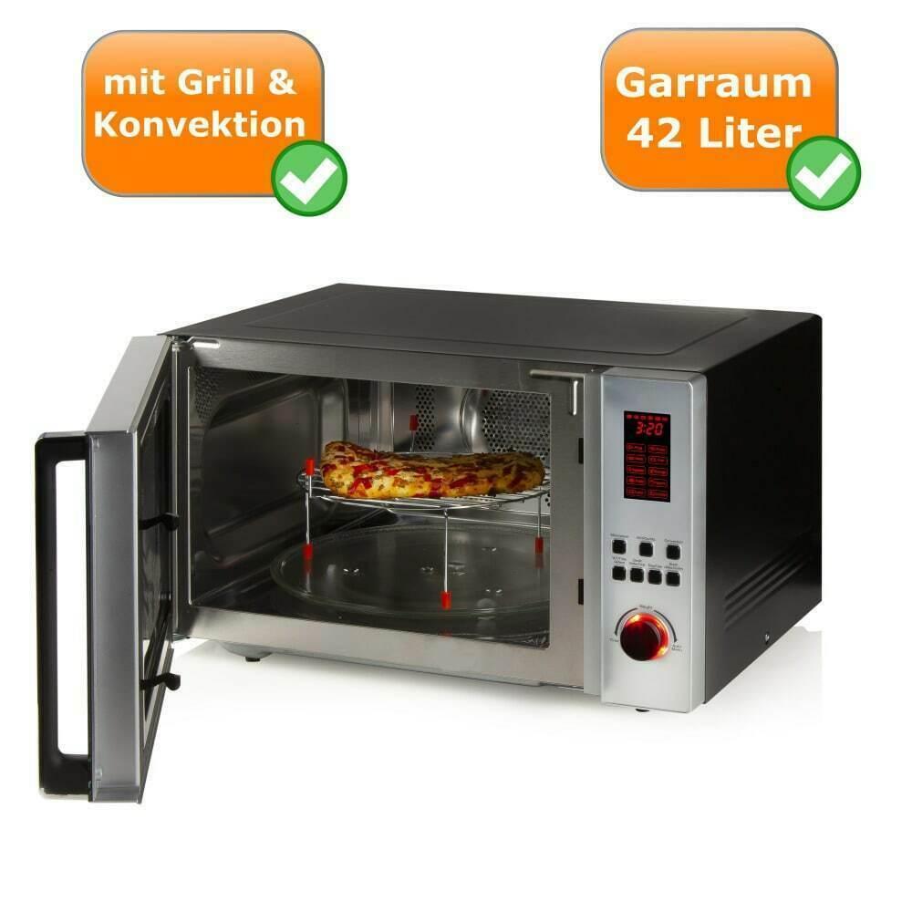 XXL-Kombi-Mikrowelle Grill - und Konvektionsfunktion 42 Liter 10 Kochprogramme