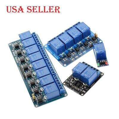 5V 12V 1 2 4 Channel Relay Module with Optocoupler Relay Output for Arduino