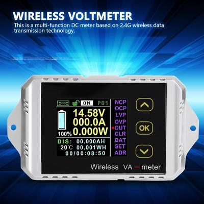 Wireless Dc 0400v 0300a Lcd Digital Combo Panel Volt Amp Power Watt Meter