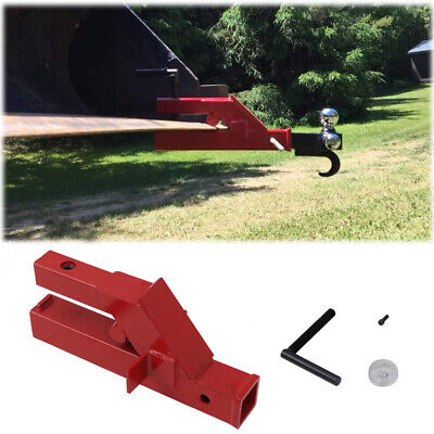 For Deere Bobcat Tractor Bucket Clamp On Trailer Hitch 2 Ball Mount Receiver