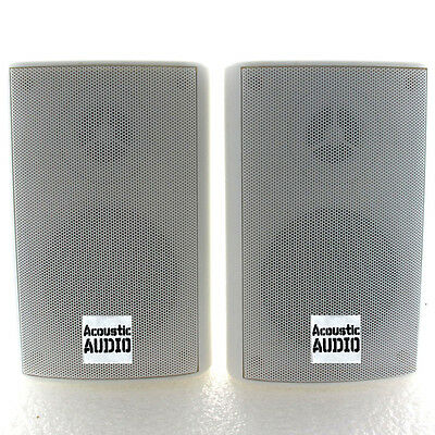 Acoustic Audio AA351W Indoor Outdoor 2 Way Speakers 500 Watt White Pair
