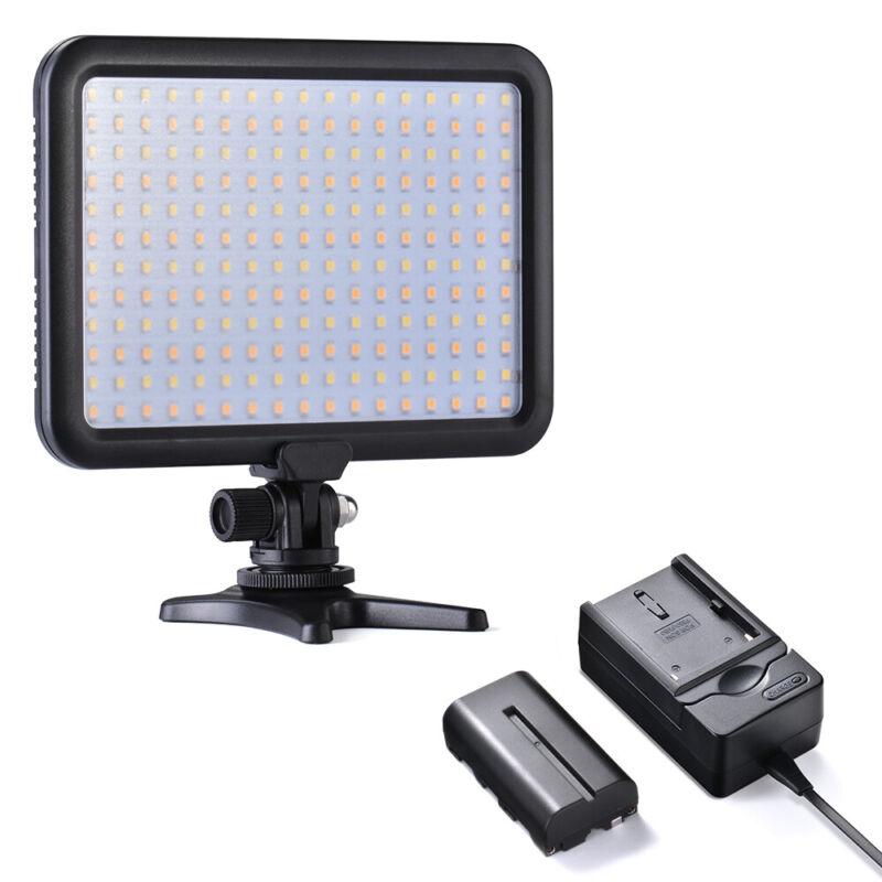 Tycka 204 LED Video Light Panel 3200K-5600K for Nikon DSLR Camera+ Battery TK204