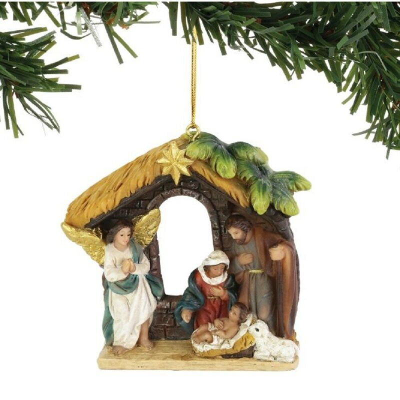 Nativity Scene Christmas Tree Ornament 6004704 New