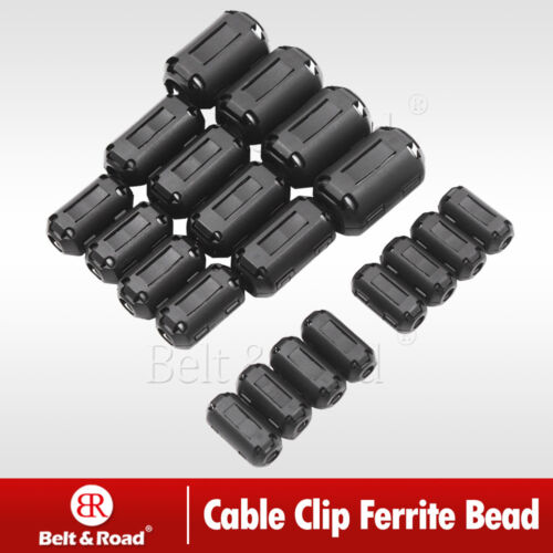 Купить 20X Cable Clips Clip-on Ferrite Ring Core RFI EMI Noise Suppressor Filter Beads