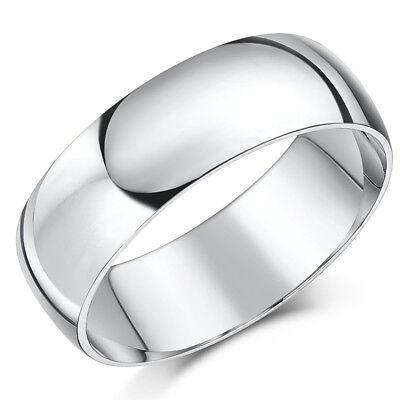 Palladium Wedding Band 7mm Band Men's Ring Heavy Weight D Shaped Ring D-shaped Band Wedding Ring