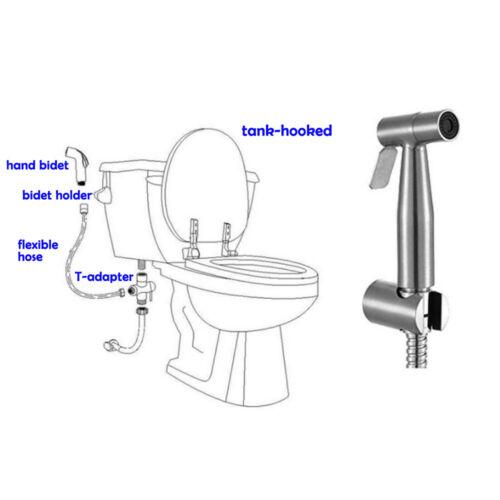 ABS Hand Brause Sprayer Dusche Mit Schlauch Adapter Brausehalter Bidet Toilette