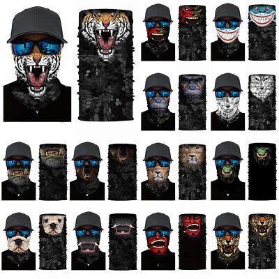 3D Animal Cycling Motorcycle Neck Scarf Face Mask Halloween Headband Bandana - Cycle 3 Halloween