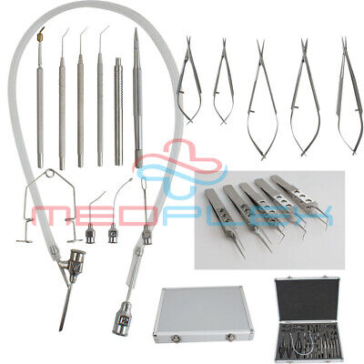 21 Pcs Ophthalmic Cataract Eye Micro Surgery Surgical Instruments Set