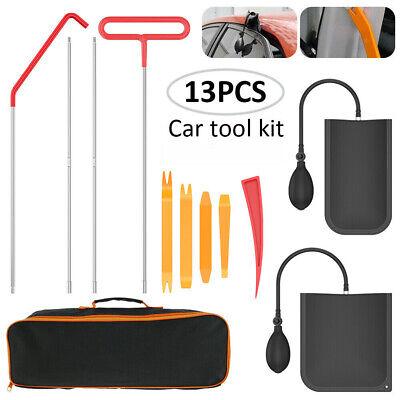 13 PCS Car Door Repair Tools Open Unlock Tool Kit Key Lost Lock Out Air Pump US