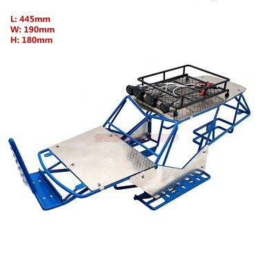 1/10 RC AXIAL WRAITH METAL FRAME BODY ROLL CAGE W/ ROOF RACK AND SHEETS BLUE ()