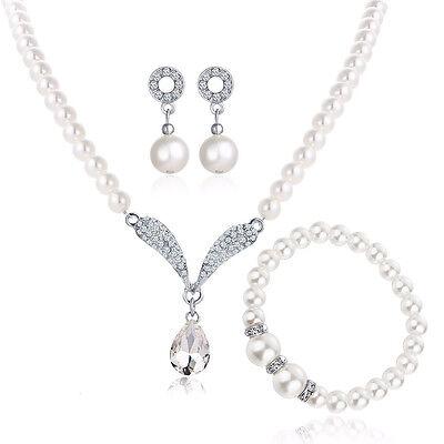 Silber Gold Kristall Perlen weiß elfenbein Kostüm Schmuck für Hochzeit Ohrringe