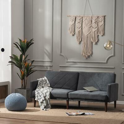 2 colors modern convertible linen futon sofa