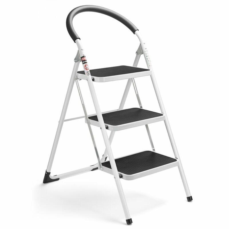 3 step ladder folding step stool 3