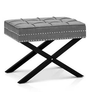 SALE:  Seat Footstool Bench Stool - Grey Melbourne CBD Melbourne City Preview