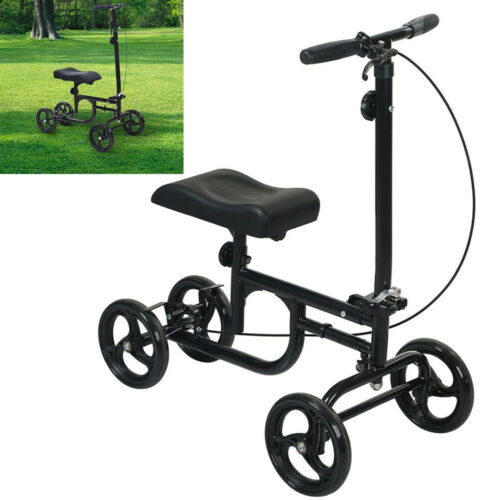 ELENKER Steerable Foldable Knee Walker Scooter Turning Brake