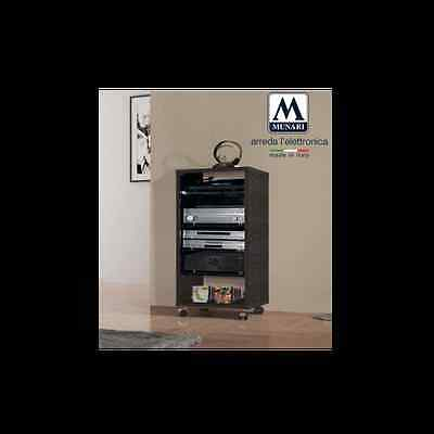 MUNARI MT159NE MOBILE POTRA TV E HIFI  FUME'-GIRADISCHI/CD/AMPLI/DAC/PRE