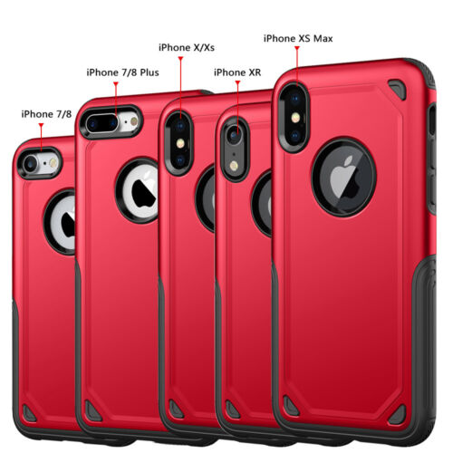 Fits iPhone XS Max XR X 7 8 Plus Protective Shockproof Hybrid Rugged Case Cover