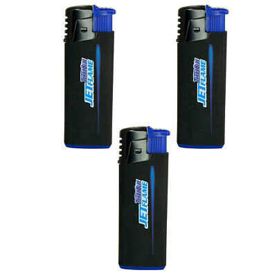 Turbo Blue Refillable Jet Flame Lighter - Powerful Windproof Flame - 3 Pack