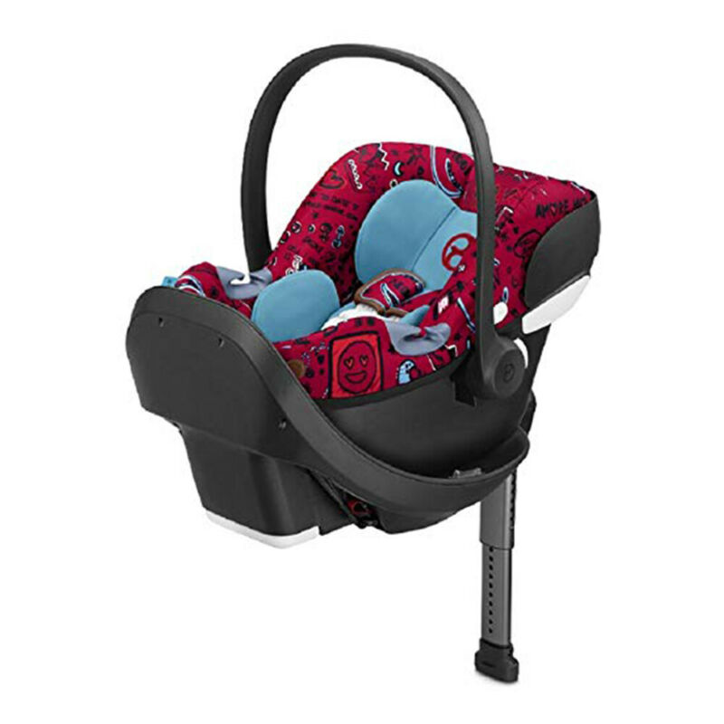 Cybex Aton M Rear Facing Adjustable Infant Car Seat with SafeLock Base, Love Red