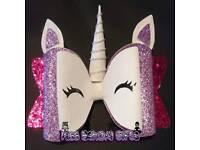 Extra large Unicorn Hair Bow Clip