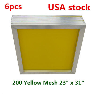 Us 23 X 31 Aluminum Silk Screen Frame For Screnn Printing-200 Yellow Mesh 6pcs
