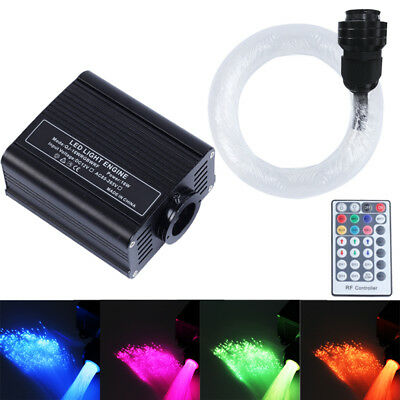 RGBW Twinkle Glow LED Fiber Optic Star Light Ceiling Light Kit 0.75mm 2M 150 Pcs (Twinkle Star)