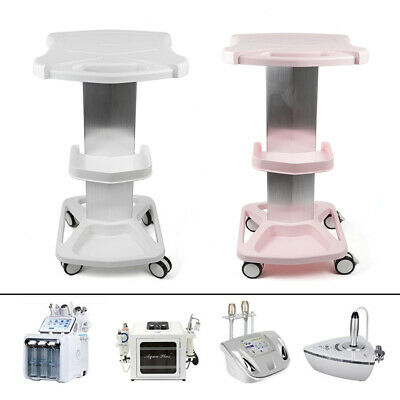 Trolley Stand Salon Medical Beauty Instrument Machine Rolling Cart Pinkwhite Us