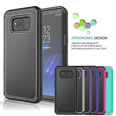 For Samsung Galaxy S8 / S8 Plus Shockproof Hybrid Rugged Rubber Hard Case (Best Case For Samsung Galaxy S8)