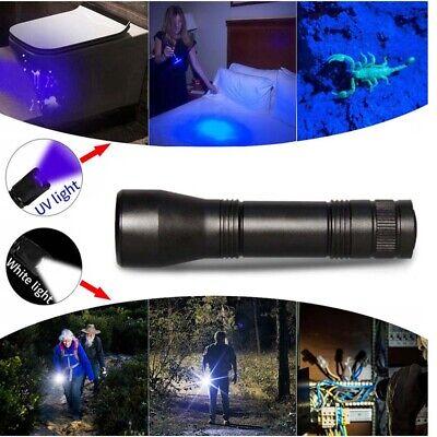 UV LED Flashlight UV Light Torch 5 Mode 80000LM  Zoomable 395nm 18650 Blacklight