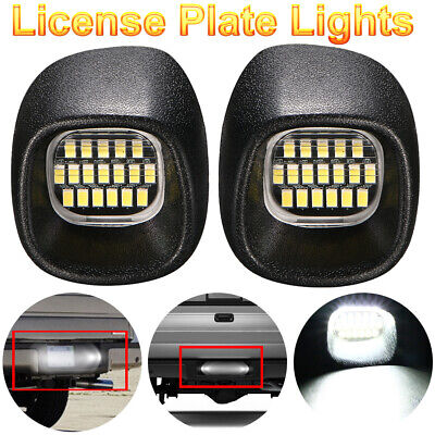 LED Rear License Plate Bumper Lights For Chevy S10 Pickup Fleetside Bed 1998-04