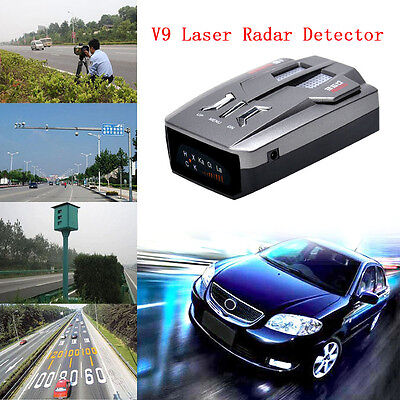 Car Trucker Speed V9 Laser Radar Detector Voice Alert Warning 16 Band 360 Degree