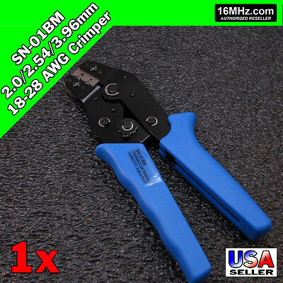 Sn-01bm Crimper Crimp Plier Tool 2.0-2.54mm 18-28 Awg 2 Size Dupont Jst Molex Us