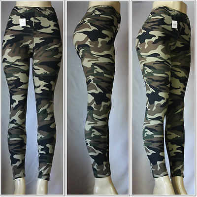 Fashion Military Army Printed Leggings Camouflage Women Stretch Pants One Size