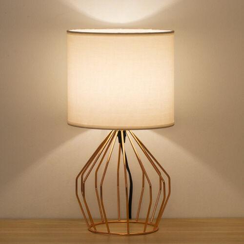 Modern Rose Gold Table Desk Lamp Beside Nightstand Bedroom O