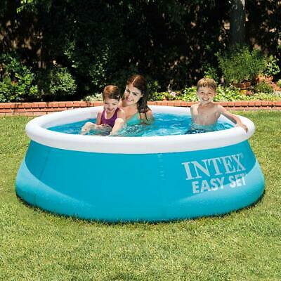 6FT INTEX ROUND INFLATABLE FAMILY SWIMMING PADDLING POOL FUN KIDS GARDEN SUMMER