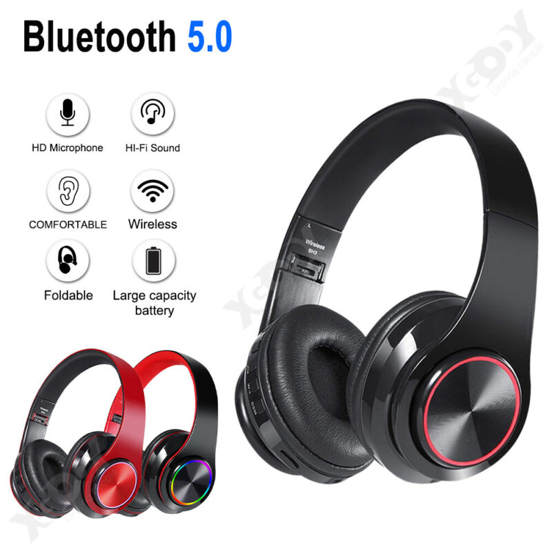 On Ear Kopfhörer Bluetooth 5.0 Kabellos Faltbare Bass Headphones Stereo Kopfhrer