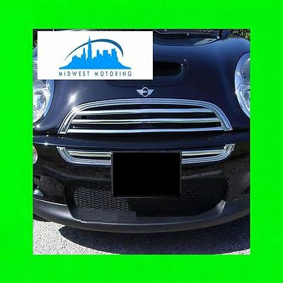 2002-2011 MINI COOPER CHROME GRILLE TRIM S 2003 2004 2005 2006 2007 2008 2009 -