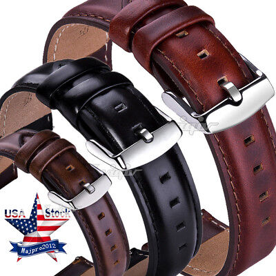 Fossil Leather Band (18 20 22mm Quick Release Retro Leather Watch Band Wrist Strap For Fossil)
