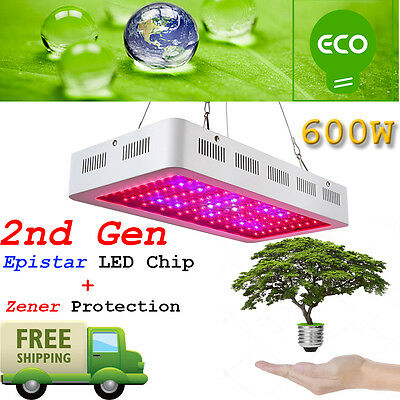 1Pcs 2Nd Gen 600W Led Grow Lights Full Spectrum Lamp Panel Plant Light