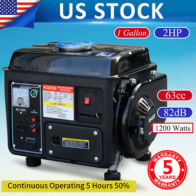 Handy Gas Generator 1200W Emergency Home Back Up Power Camping Tailgating
