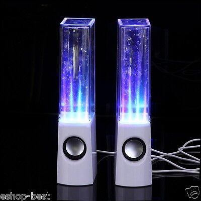 LED Dancing Water Music Fountain Light Speakers for PC Laptop iPhone iPad4 iPod on Rummage